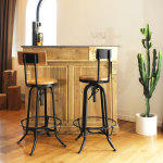 Bar bois vintage authentiq 120cm  |  khb120-bois
