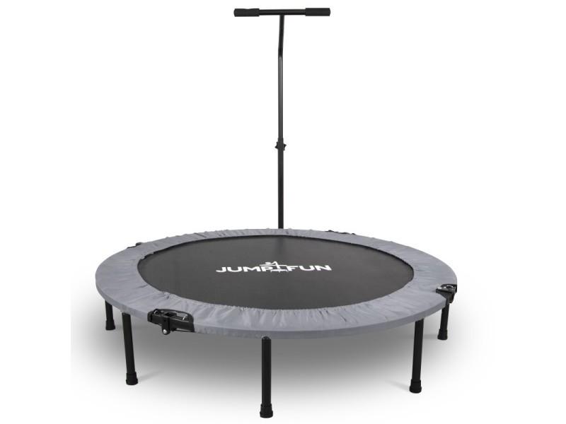 Mini trampoline fitness jump4fun pliable t-bar - ø122cm, gris