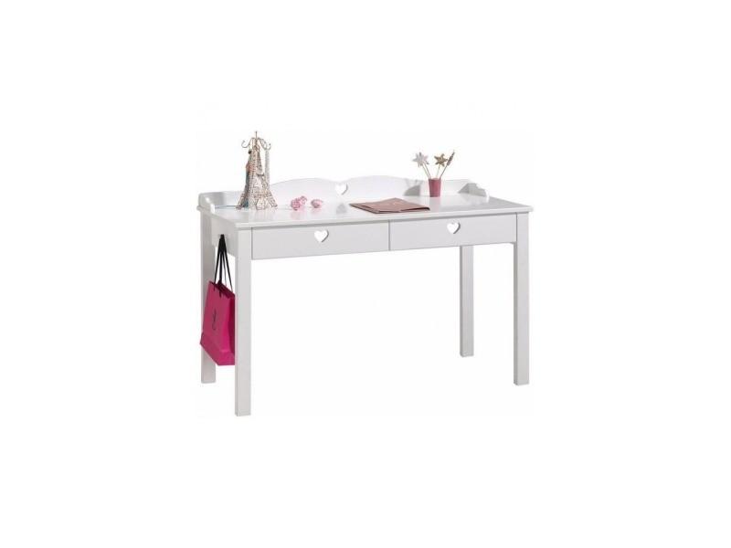 Bureau enfant adora blanc 130 cm - 84 cm - blanc laqué AMBU1314