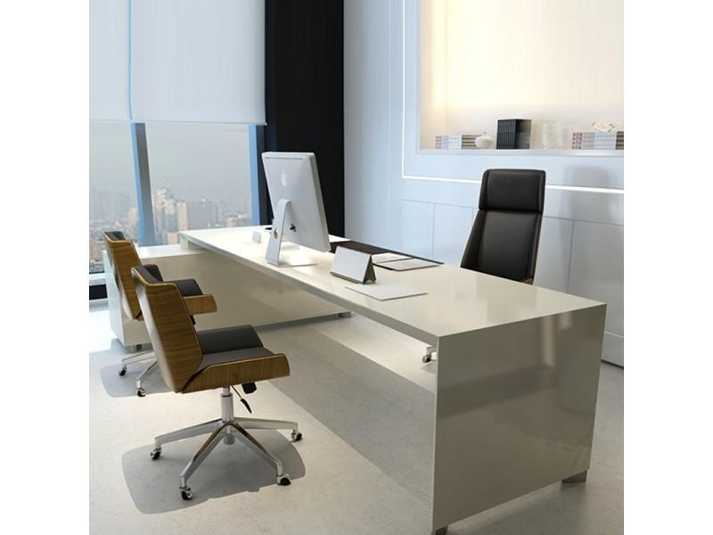 Chaise de bureau bois avec roulettes bali marron vente de