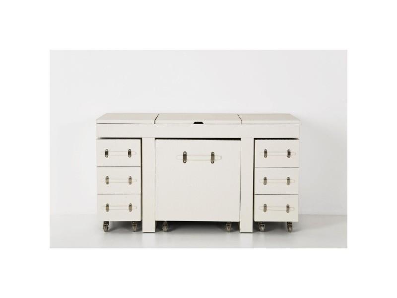 coiffeuse avec fauteuil blanc et rangement vente de commode conforama. Black Bedroom Furniture Sets. Home Design Ideas