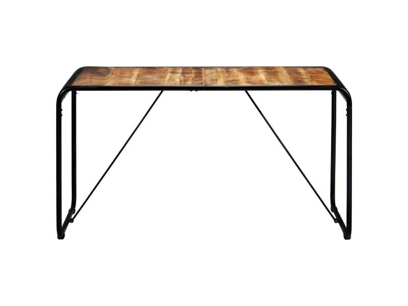 Vidaxl table de salle à manger 140x70x76 cm bois de manguier brut 247867