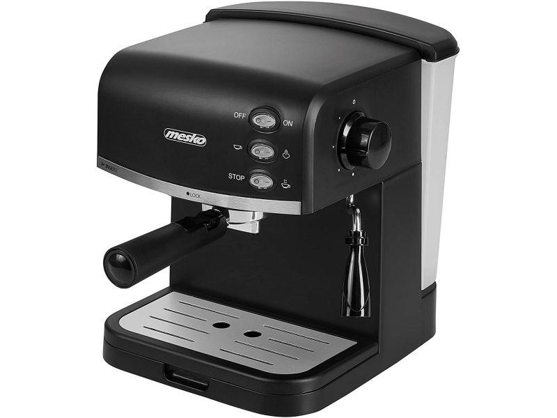 Machine à expresso de 15 bars 850w gris noir