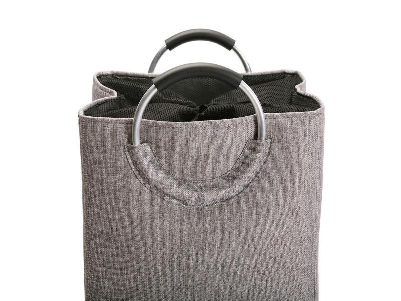 panier linge stone avec poign e couleur beige. Black Bedroom Furniture Sets. Home Design Ideas