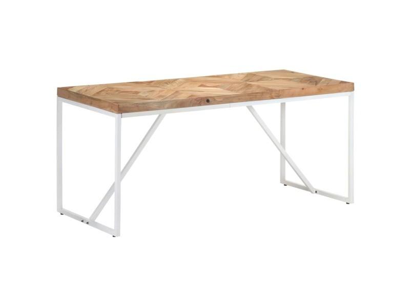 Vidaxl table à dîner 160x70x76 cm bois massif d'acacia et de manguier 323549