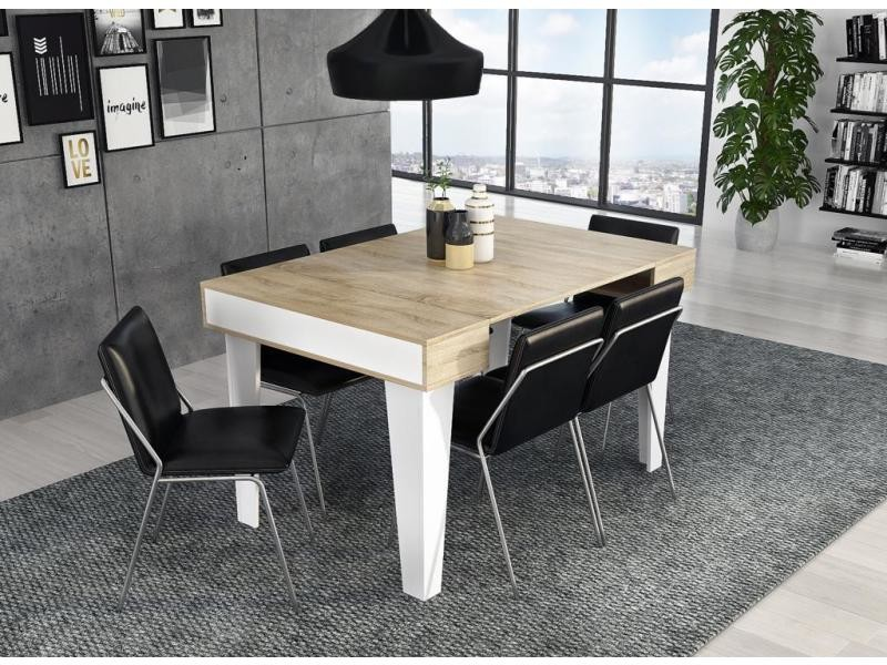 Table console extensible rallonges nordic kl max 140 cm - Table salle a manger extensible conforama ...