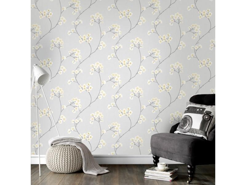 Papier peint intissé radiance vinyle grainé 1005 x 52cm crème 33-285