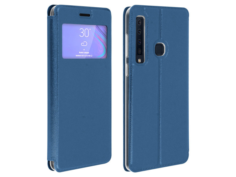 Etui Samsung Galaxy A9 2018 Housse Fenetre Folio Porte Carte Support