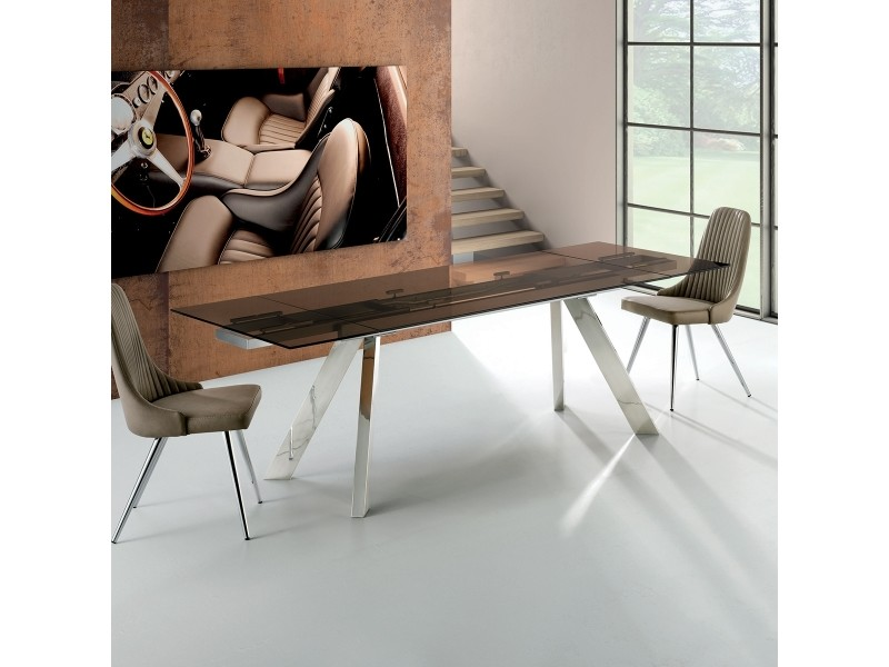 Table en verre a rallonge suma w 90x160/200cm par zendart design