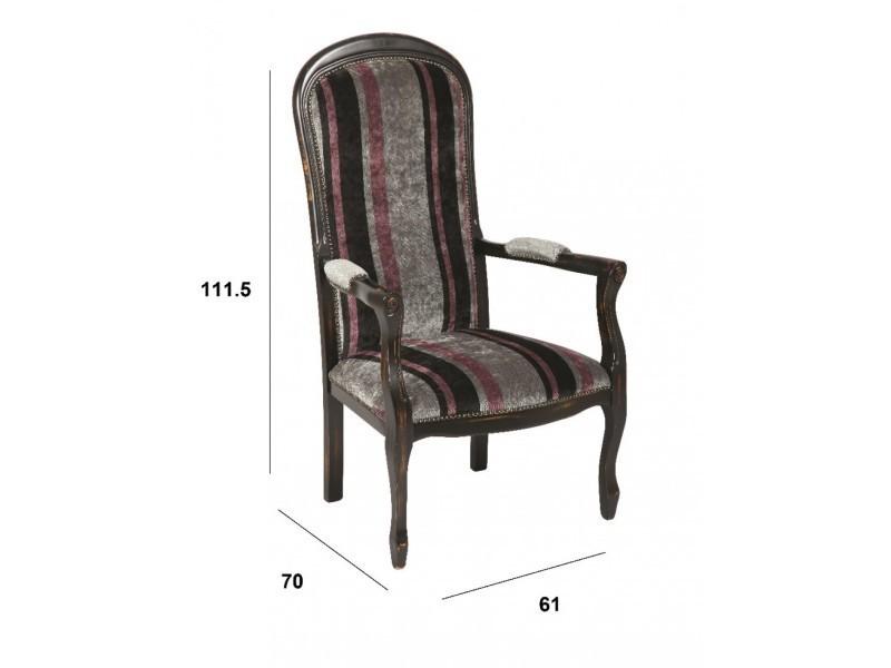 fauteuil voltaire en h tre laqu noir vieilli 20100841788 vente de tous les fauteuils conforama. Black Bedroom Furniture Sets. Home Design Ideas