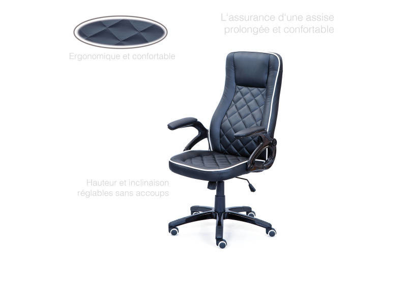 Chaise de bureau fauteuil réglable en hauteur avec finitions