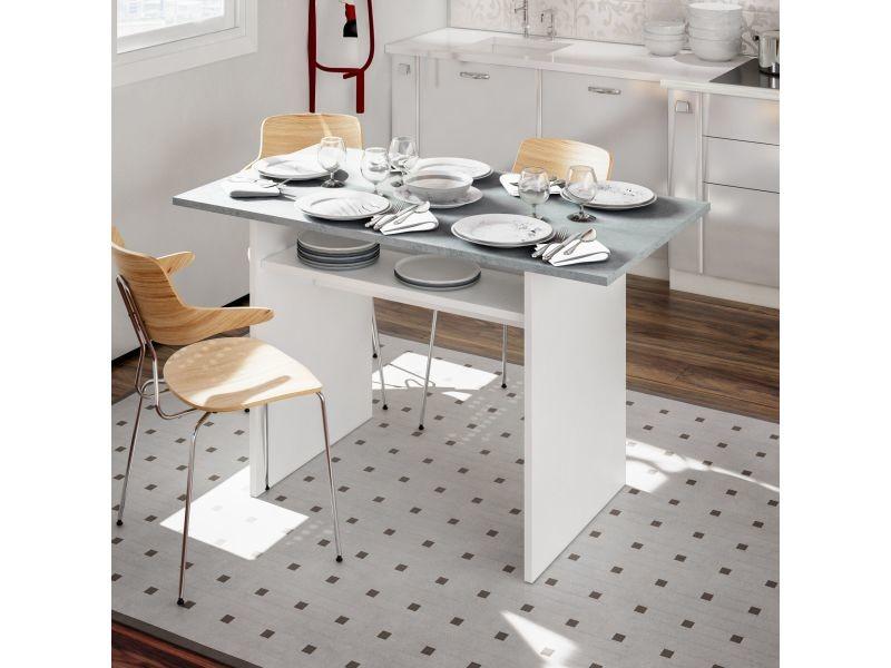 Table extensible avec ouverture livre, gris, 120 x 77 x 35 cm 8052773328470