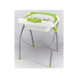 Baignoire et table à langer Baby Fox avec chevalet pliant Verte