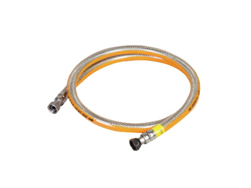 Tuyau gaz 1.50m butane/propane garantie à vie inox flexible kemper