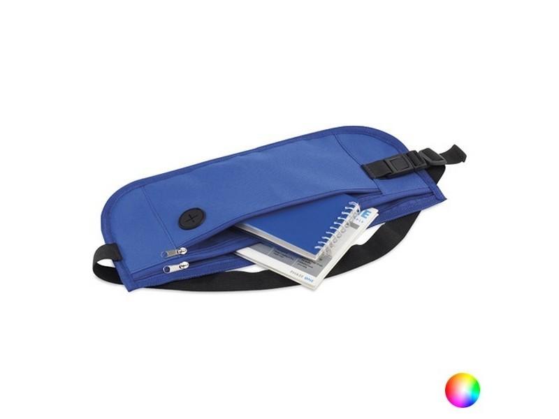 Sac banane avec sortie pour écouteurs pour sportifs - sacoche transport smartphone couleur - bleu