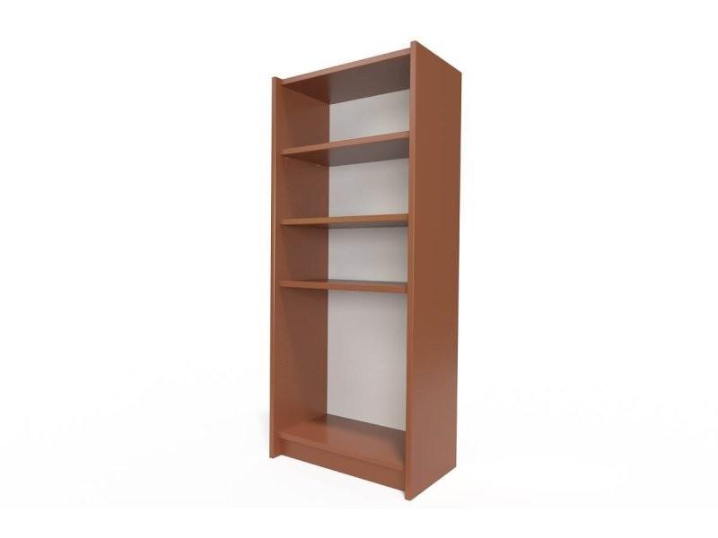 Étagère bibliothèque bois chocolat ETABIB-CH