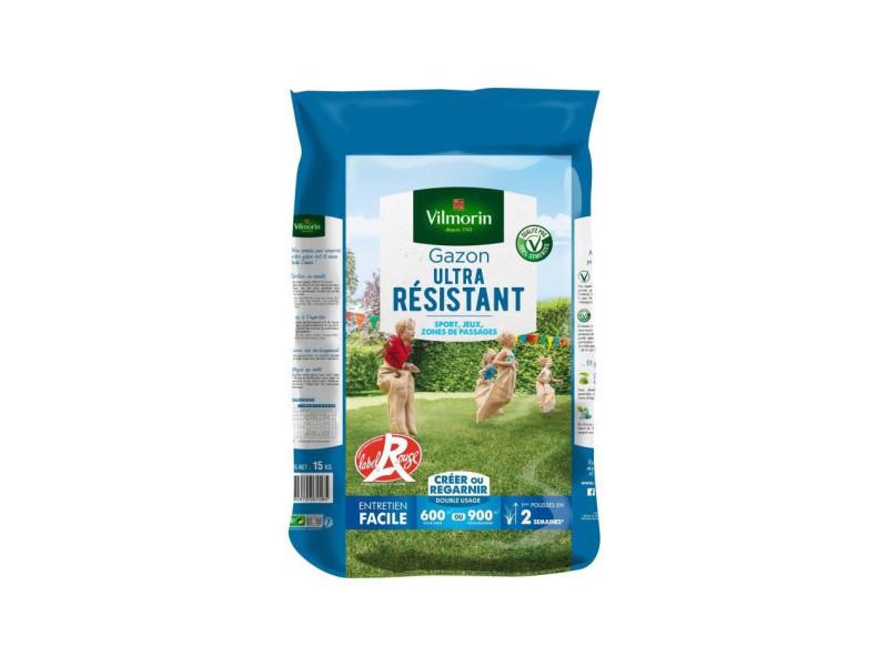 Vilmorin semences de gazon ultra-résistant label rouge - 15 kg