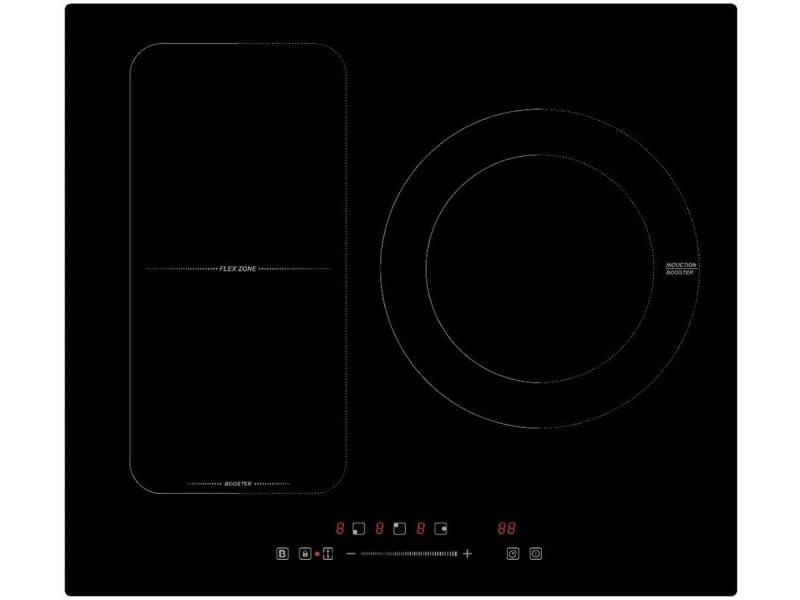 Novidom - noti3flex - plaque induction - 3 foyers - flex - garantie 2 ans - noir