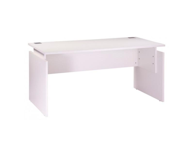 Bureau 160 x 80 cm blanc réglable en hauteur ineo