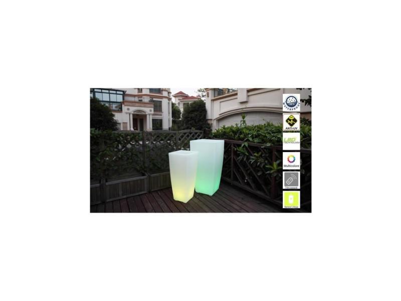 Lumisky pot lumineux led sur batterie rechargeable avec télécommande - 32 x 32 x 70 cm