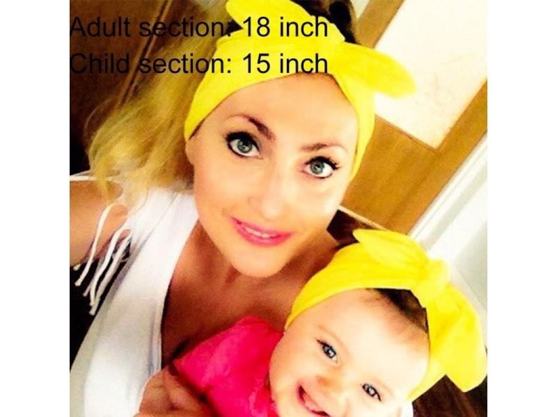 38d6817c401a8 prevnext. Bandeaux blanc 2 en 1 maman et bébé parent-enfant creative mignon  bowknot coton élastique