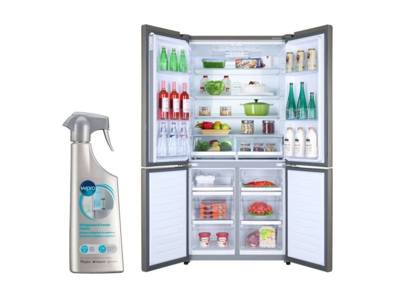 Réfrigérateur frigo américain us 4 portes inox 610l froid ventilé no frost