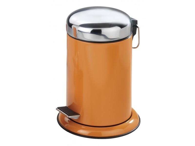 Poubelle Cosmétique à Pédale En Inox Retoro Orange (capacité : 3 Litres)   Pegane