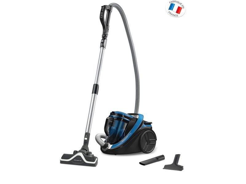 Aspirateur sans sac cyclonic de 2,5l 750w bleu noir