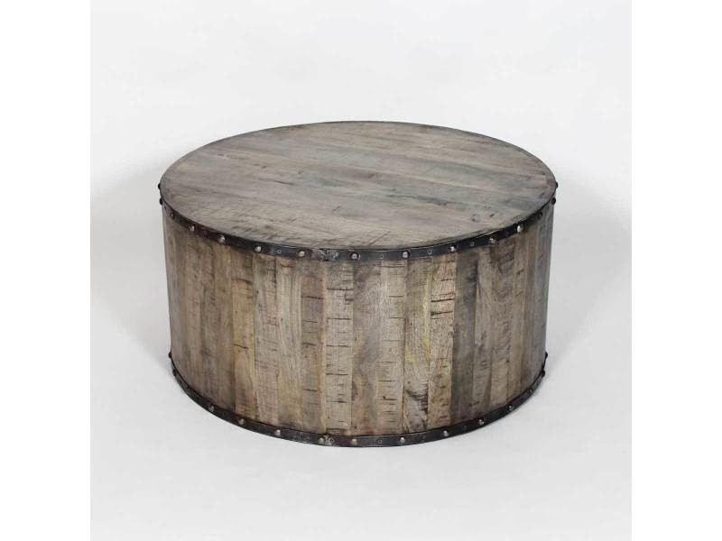 table basse industrielle effet rondin de bois if621 en soldes vente de table basse conforama. Black Bedroom Furniture Sets. Home Design Ideas