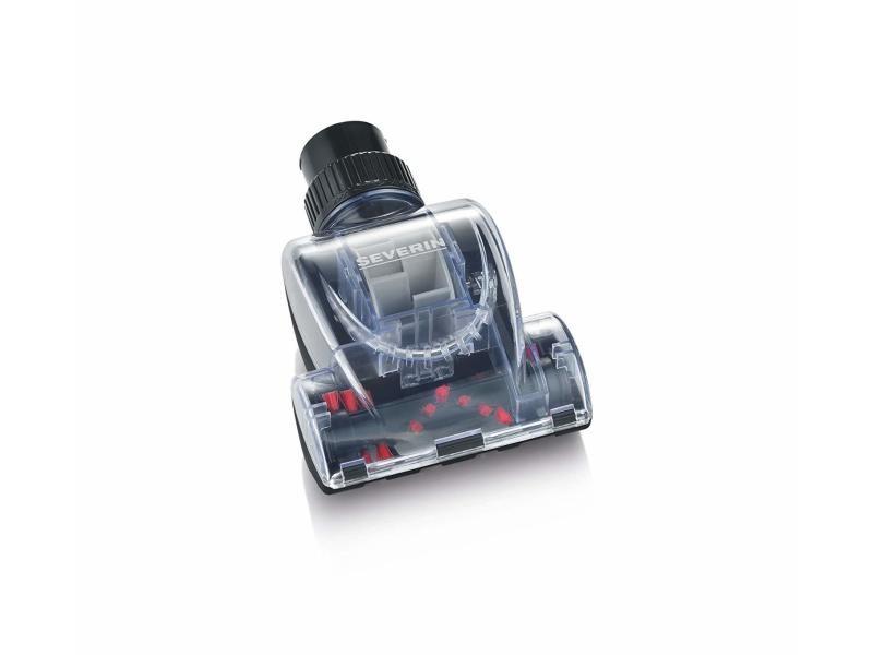 Severin tb7215 mini brosse turbo pour aspirateurs, 2 adaptateurs inclus noir