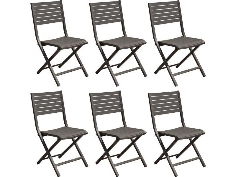Chaises pliantes en aluminium lucca (lot de 6)