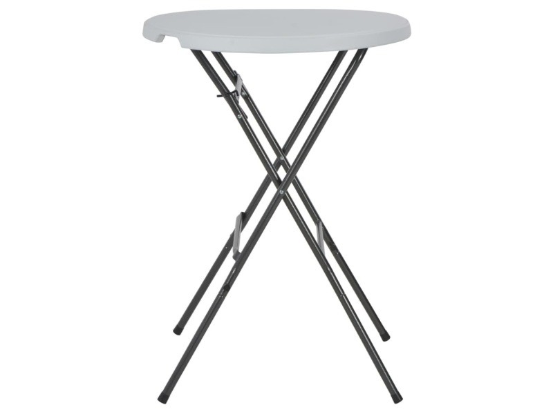 Icaverne - tables d'extérieur gamme table de bar pliante hdpe 80 x 110 cm blanc