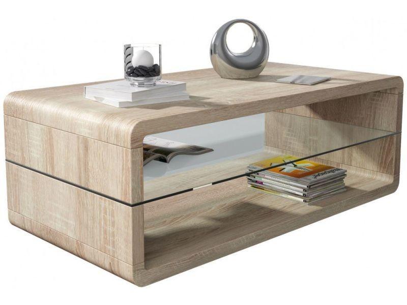 table basse sonoma clair 120 cm avec plateau en verre vente de comforium conforama. Black Bedroom Furniture Sets. Home Design Ideas