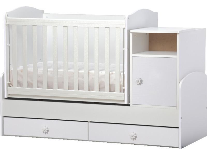 Lit bébé évolutif, combiné 3 en 1 maggy blanc Maggy_blanc ...