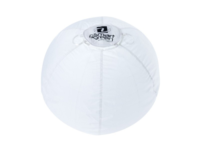 Boule lumineuse led sans fil bubble blanche en nylon