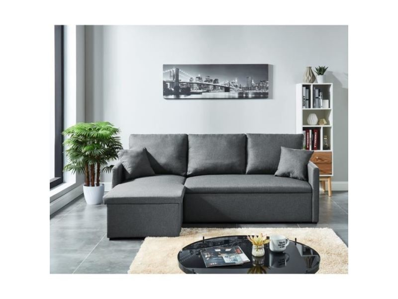 Divan D'angle Canapé Canape Convertible Places Sofa Jim Gauche 3 N8nPkX0wO