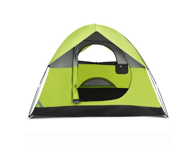 Tente de camping double couche tissu oxford imperméable sac 2 cordes coupe-vent 4 personnes