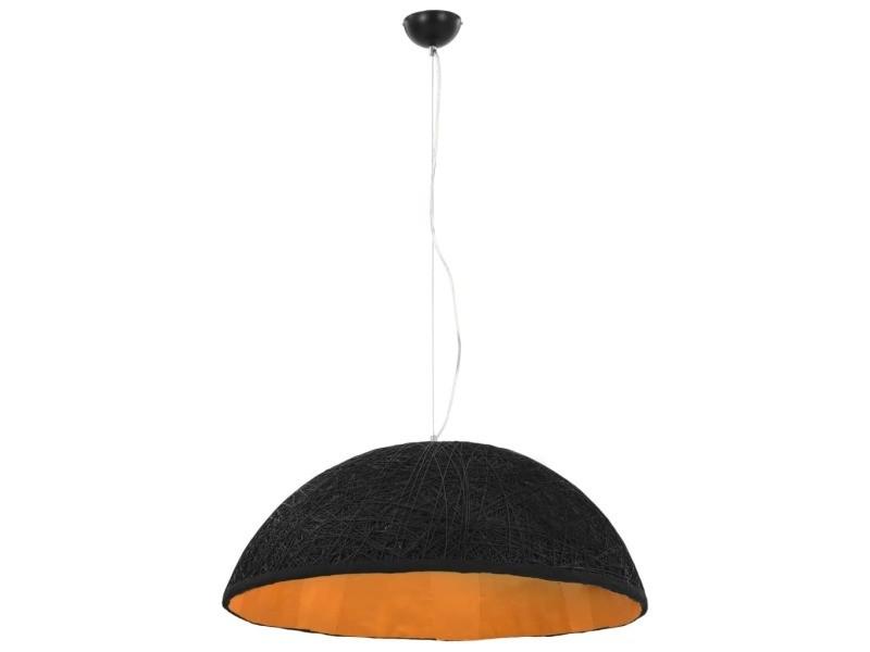 Vidaxl lampe suspendue noir et doré ø70 cm e27 50941
