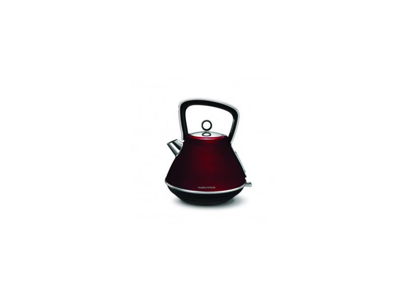 Bouilloire 1,5l 2200w evoke pyramide rouge morphy richards - m100108ee