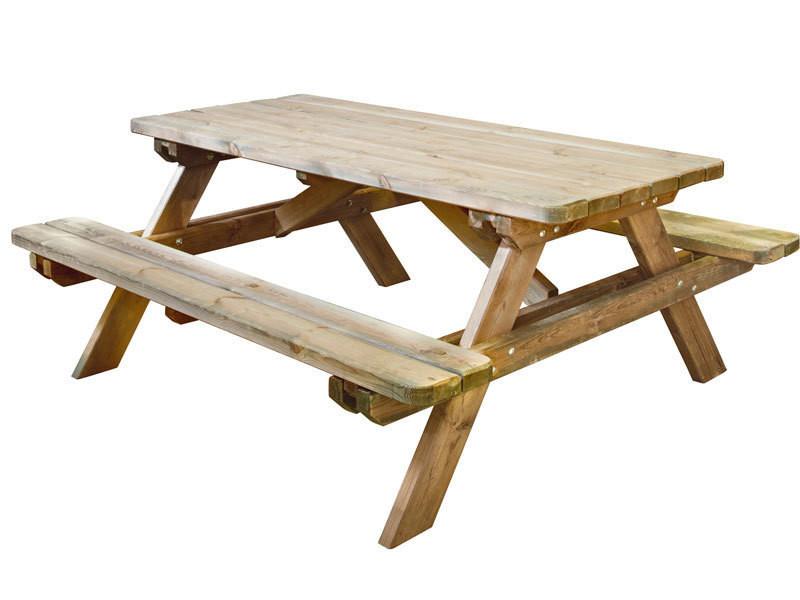 Table pique-nique en bois robuste B_0100492