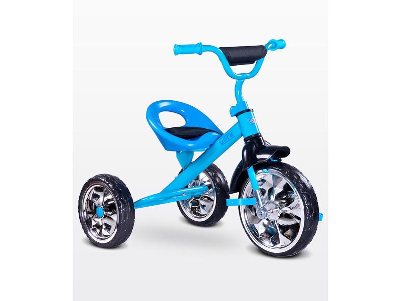 Lork - tricycle bébé enfant - dès 3 ans - cadre en acier - 3 roues en mousse - jusqu'à 25 kg - pédales anti-dérapantes - - bleu