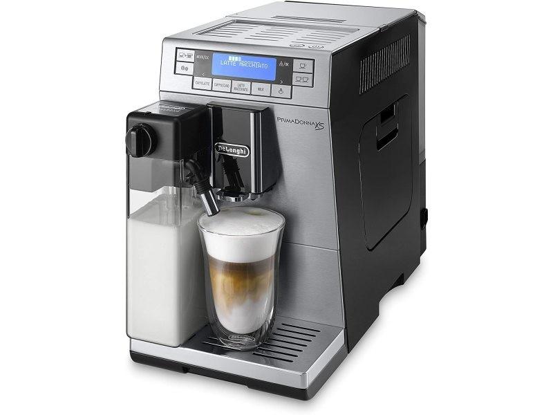 Machine à expresso de 1,3l avec broyeur intégré et écran 1450w argent noir