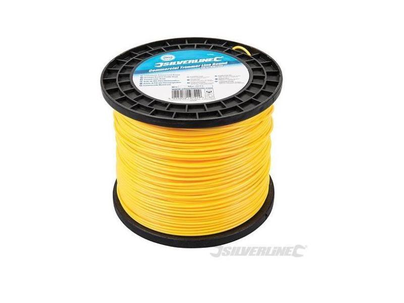 Silverline - fil coupe-bordure nylon rond 2,4 mm x 262 m - 245098