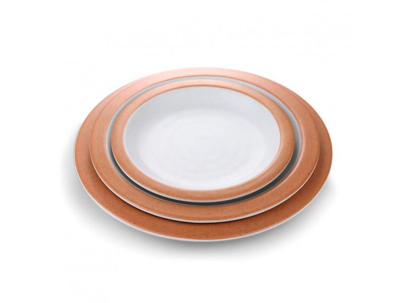 Assiettes mélamine blanche et orange ø 16 à 30,5 cm - pujadas - 16 cm 28 (ø) cm
