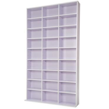 armoire tag re rangement cd dvd meuble de rangement pour 1 000 cds blanc violet helloshop26. Black Bedroom Furniture Sets. Home Design Ideas