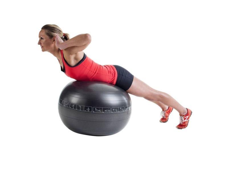 Pure2improve ballon d'exercice 75 cm noir 408920