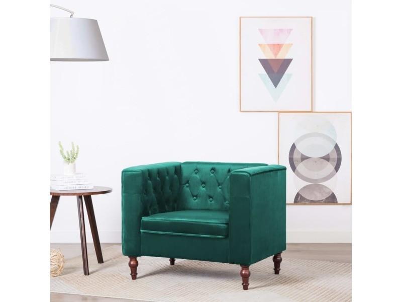 Splendide fauteuils reference monaco fauteuil revêtement en velours 86 x 67 x 71 cm vert