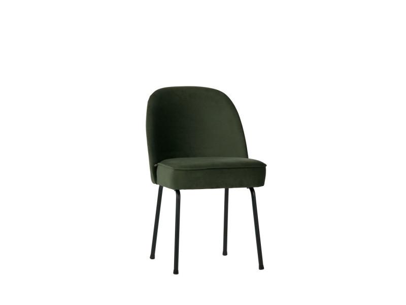 Vogue 2 Chaises Design En Velours Couleur Vert Kaki 800816 501