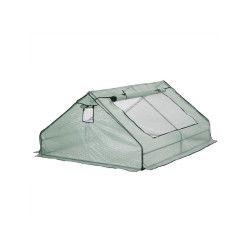 Mini serre de jardin de 2,5m², bâche armée en polyéthylène, châssis pour semis,