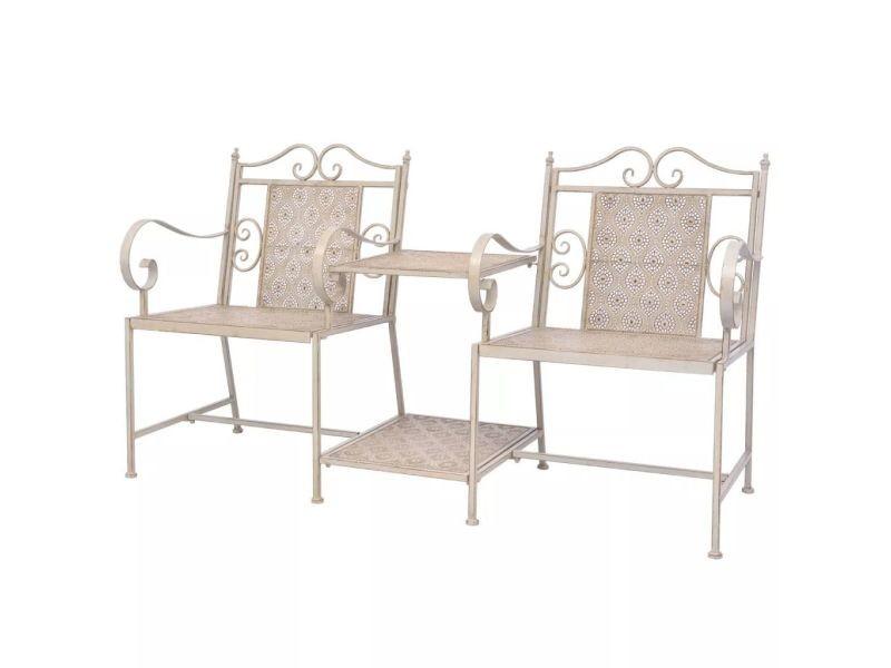 Splendide sièges d'extérieur edition mbabane causeuse de jardin en acier blanc